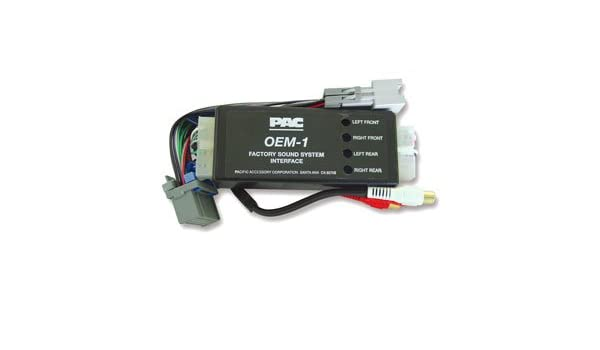 PAC AOEM-GM1416 Select Buick Chevrolet GMC Amplifier Add On Interface 4 Ch RCA