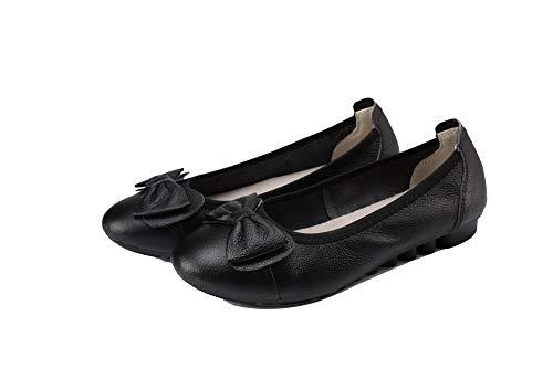 FBUIDC010958 Flats Basso Nero Tirare Puro Donna Tacco AllhqFashion Ballet xf0YPaPw