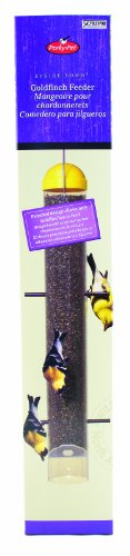 WOODSTREAM WILDBIRD 399 UPSIDE-DOWN FINCH THISTLE FEEDER YELLOW 2 LB CAPACITY