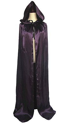 [Unisex Hooded Cloak Coat Witch Robe Cape Long Halloween Cosplay Party Cloak59
