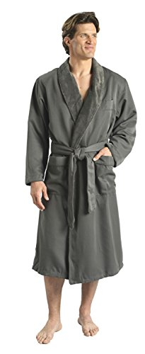 Monarch/Cypress Plush Lined Microfiber Spa Robe - Unisex Luxury Hotel Bathrobe in ()