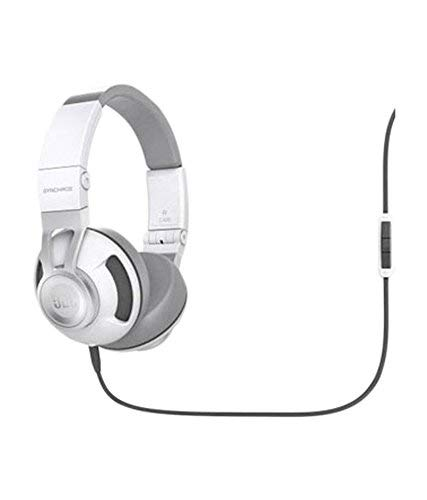 (Renewed) JBL Synchros S300a On-Ear Headphones with Universal in-line Mic & Controls (White/Gray)