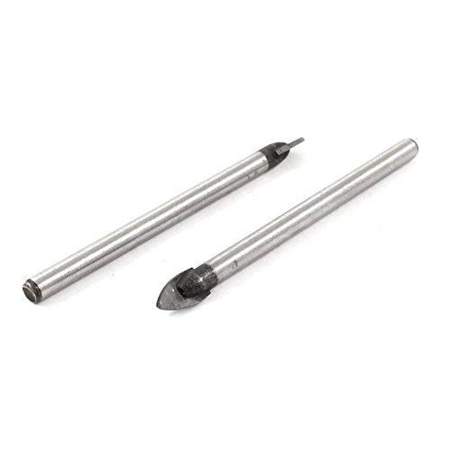 10Pcs//Set Glass Ceramic Alloy Mirror Drill Bits Carbide Tile Spear Head 6mm
