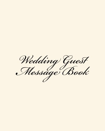Wedding Guest Message Book