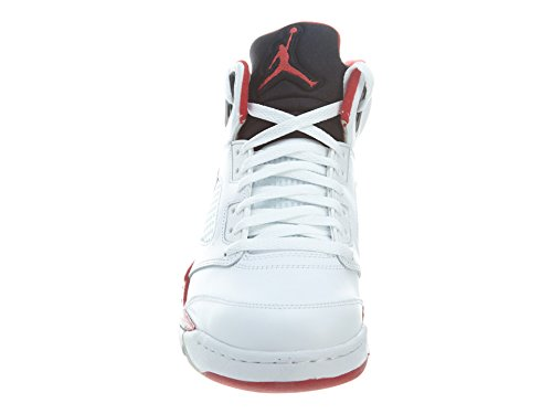 "Nike Herren Air Jordan 5 Retro ""Silver Tongue"" Leder Basketball-Schuhe"