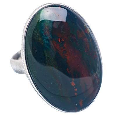 Buy venus gems Bloodstone Ring 6 25 Ratti in Silver Online