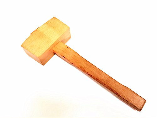 Woaiwo-q Ice Mallet Hammer Wooden Hand Hammer Whiskey Ice Cork for Wine Cocktail Wine Accessories Bar Beer Globe Bar Items For Bars Mallet