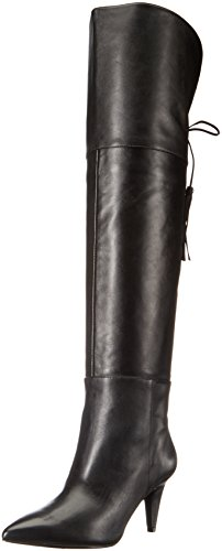 Nine West Women's Josephine Leather Over-The-Knee Boot, Black, 8.5 M US by Nine West