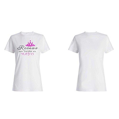 Nuevo Reinas son nacidas en Mayo camiseta de las mujeres z79f