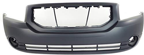 Front Bumper Cover Compatible with 2007-2012 Dodge Caliber Primed with Fog Light Holes