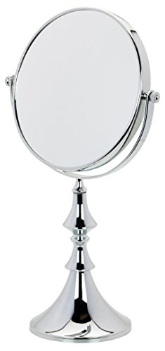 Danielle Metallic Vanity Mirror with 10x Magnification, Chrome