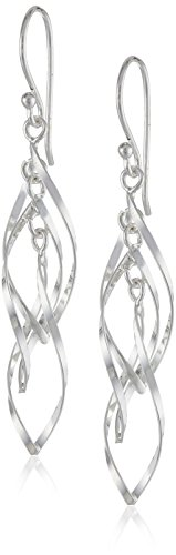 Sterling Silver Twisted Triple Earrings