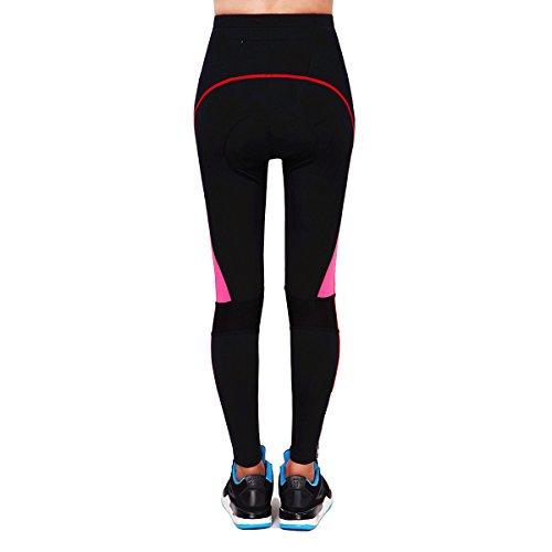 Respirant Longues Shirt Black Pantalon 4d Femme Manches Pants WOSAWE pour Red Cyclisme rembourr 4yqXfXY1