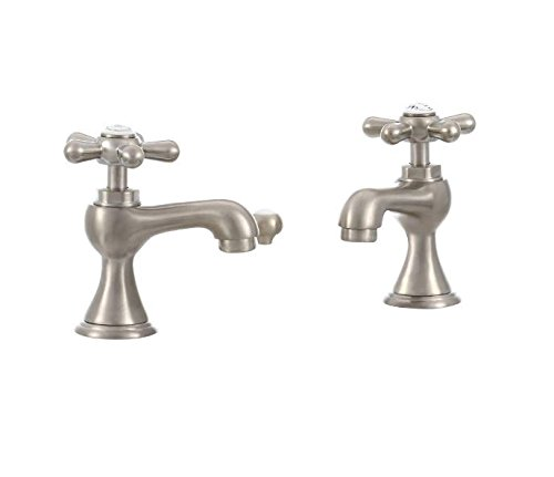 Pegasus FS2AD202BNV 8-Inch Double Handle Basin Pillar Tap with Pop-Up Drain, Brushed Nickel - Pillar Tap Faucet Finish