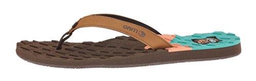 Cobian Women's Foam Thong Sandal (9 M, Chocolate)
