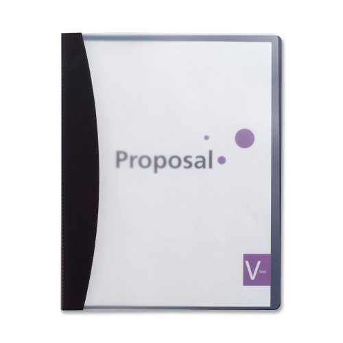 - Wholesale CASE of 25 - GBC Swing Clip Clear Front Report Covers-Report Cover, 30 Sheet Capacity, Clear Front/Black Edge
