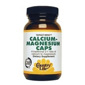 Calcium-Magnesium with Vitamin D Complex By Country Life - 240 Vegetable Capsules