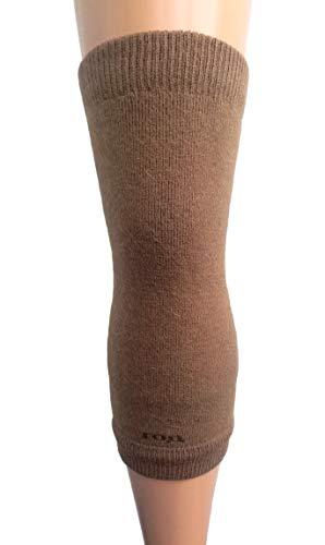 (Men Women Knee Braces Warm Soft 70% Camel Wool Kneepads Brown Long Arthritis, 1 Pair. Made in Mongolia.)