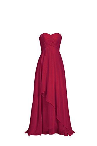 YiYaDawn -  Vestito  - stile impero - Donna rosso vivo 44