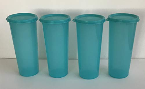 (Tupperware Straight Sided Tumblers Set of 4 with Seal 16oz Retro Style Duck Dynasty)