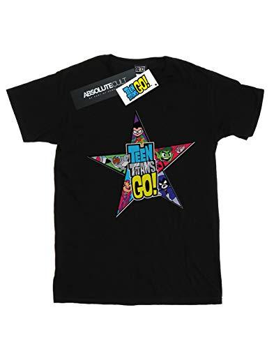 Logo Teen shirt Dc Go T Star Noir Titans Garçon Comics vPWSqn4SBH