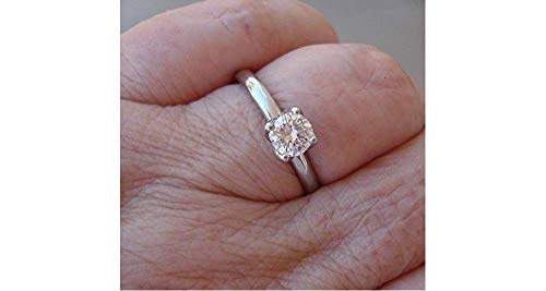 - 1/2 Carat GIA Certified Diamond Ring in Solitaire 4 Prong in 14K White Yellow or Rose Gold