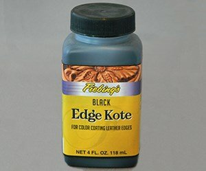 Fiebing's Black Edge Kote, 4 Oz. - Color Coats Leather Edges Fiebings Leather Boots