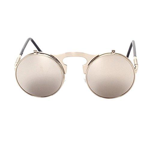 Fashion Flip Up Metal de New Lunettes Lens Retro de C5 Circle Frame Meijunter soleil Lunettes soleil qIpc7wFA