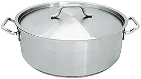 20 QT STAINLESS STEEL COMMERCIAL BRAZIER POT W LID – NSF by overstockedkitchen