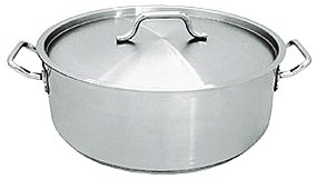 20 QT STAINLESS STEEL COMMERCIAL BRAZIER POT W/ LID - NSF by overstockedkitchen by overstockedkitchen