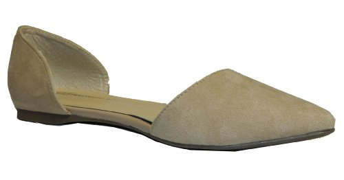 Breckelles Dolley-23 Ballet Ballet-Flats, Taupe Suede, 8