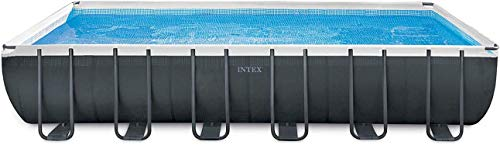 Intex 24ft X 12ft X 52in Ultra XTR Rectangular Pool Set with Sand Filter Pump, Ladder, Ground Cloth...