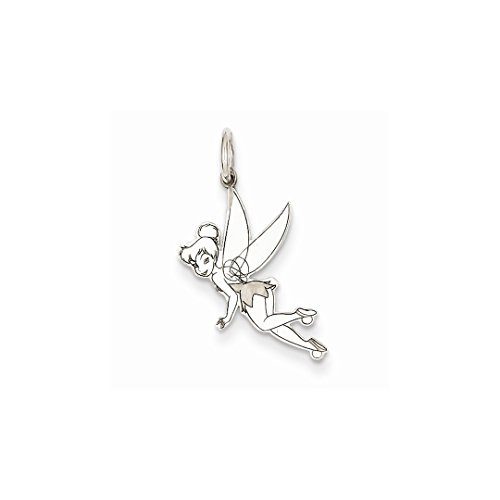 ICE CARATS 14k White Gold Disney Tinker Bell Pendant Charm Necklace Licensed Fine Jewelry Gift Set For Women Heart