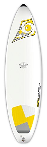 BIC Sport DURA-TEC Shortboard Surfboard, 6'7' x 20.75' x 2.4' x 38 Large, White/Yellow