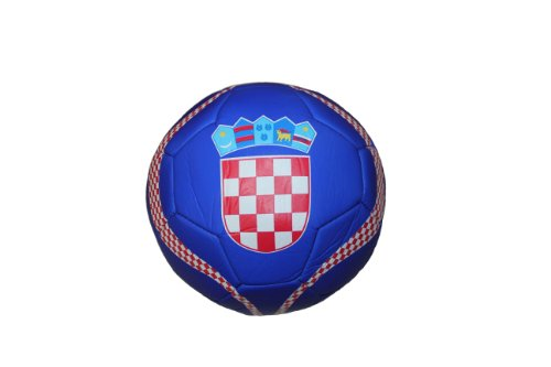 Croatia Hrvatska BLUE Country Logo FIFA World Cup Soccer Ball Size 5.. New by SUPERDAVES SUPERSTORE