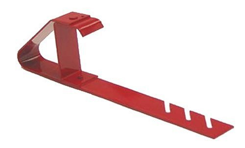 Qualcraft 2502 Adjustable Heavy Duty Fixed Bracket, for Use with Sideguard Or Material Support On Low Slope Roofs, Powder Coated Red ()