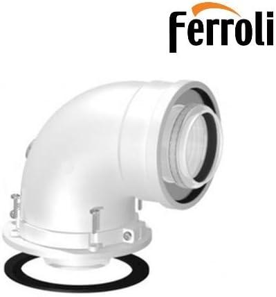 Kit Curva Coaxial 90°, giratorio 360° con paso 45° Ø 100/60 para caldera de condensación