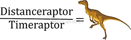 Amazon com: LA STICKERS Velociraptor Math - Funny Dinosaur
