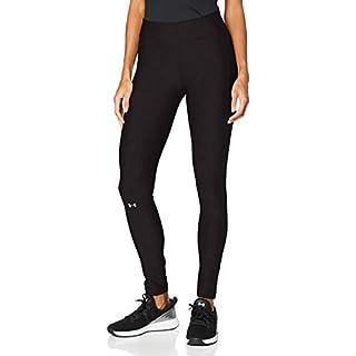 Under Armour Women's HeatGear Armour Leggings , Black (001)/Metallic Silver , X-Small Tall