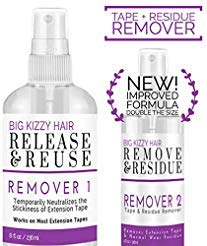 Release Tape Hair Extension Remover, Tested & Proven Fastest & Easiest Adhesive Remover, 8 Ounce Spray Bottle by Big Kizzy Hair