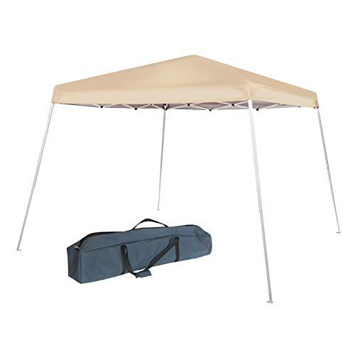 - Abba Patio 8 x 8-Feet Slant Leg Instant Easy Pop Folding Canopy with Carry Bag, Khaki