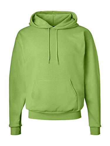Hanes Men's Pullover EcoSmart Fleece Hooded Sweatshirt, Lime, ()