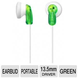 Sony In Ear Ultra Lightweight Stereo Bass Earbud Headphones (Green)