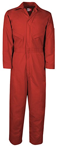 Big Bill MX1180US7//OS-RED-56T Oilfield Coverall 2 Reflective Tape Tall Red Chest-56