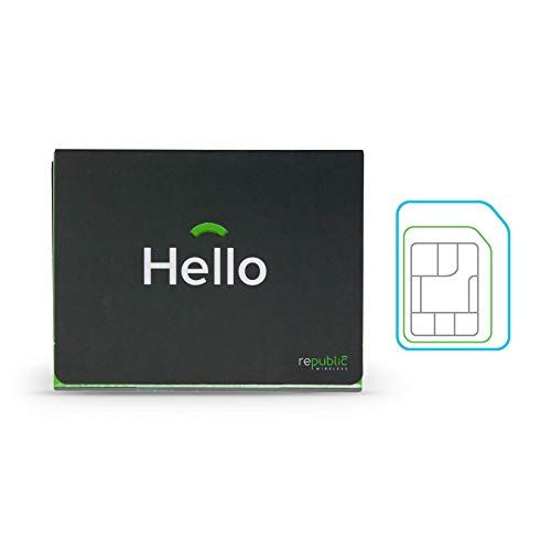 Republic Wireless Bring Your Own Phone SIM Card Kit With 3-in-1 SIM for Prepaid - No Contract Cell Phone Service - Plans Start at $15 Per Month - Add 4G LTE Data for $5 per GB (Mobile Phone Service Plans)