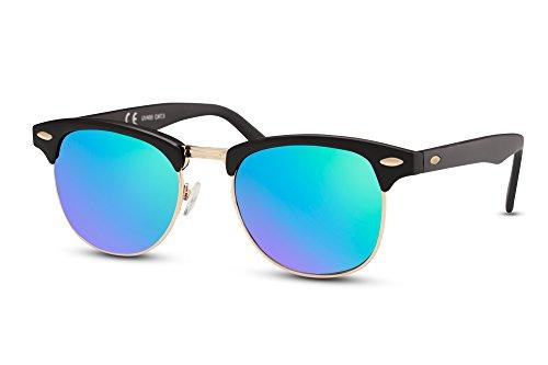 Hommes Rétro Sunglasses Clubmaster Femmes Miroitant Noir Ca Cheapass 009 7xz6nwqw