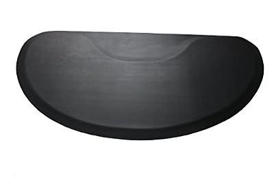 "Ultra Comfort 4' x 3' 1/2"" Thick Anti Fatigue Barber Salon Floor Mat"