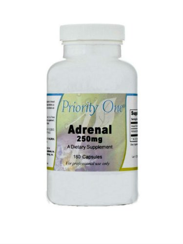 Priority One Vitamins - Adrenal 250 mg 180 caps [Health and Beauty]