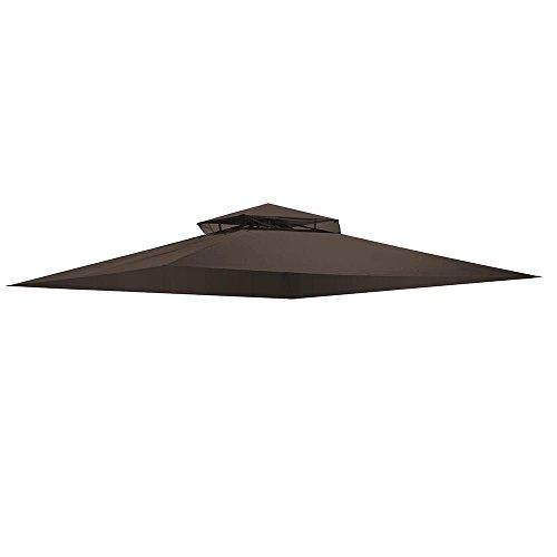 (ruidanzhu 13x11' Gazebo Top Replacement Canopy Waterproof Cover for Sunjoy)