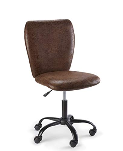 Urban Shop 784857795264 Leather Swivel Office Chair Brown